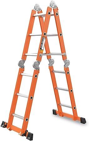 LPZ Escalera de Tijera Escalera Plegable Escalera telescópica Escalera Extensible Escalera elevadora multifunción Escalera de Tijera Aluminio (Color : Orange, Size : 700CM): Amazon.es: Hogar