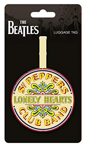 Rubber Luggage Tag Merchandiseonline The Beatles SGT. Pepper Logo Size: 3 x 3.5