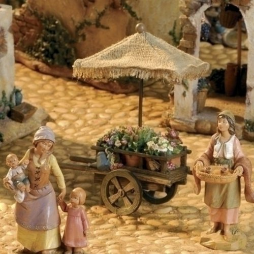 Fontanini Flower Cart by Fontanini