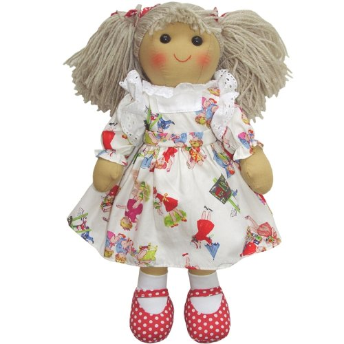 English Hand-Made Rag Doll Girls Play Dress 40cm - Powell...