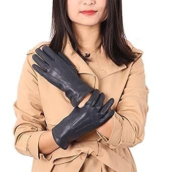 Winter Gloves Leather for Women, HZIC Outdoor Waterproof