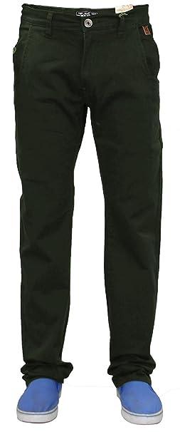 Jacksouth Pantalones Vaqueros para Hombre Devon Chino Bosque ...