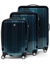 FERGÉ trolley set TSA lock CANNES - 3 suitcases luggage 4 twin-spinner-wheels