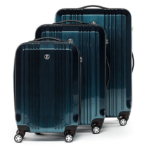 FERGÉ Trolley set - 3 suitcases hard-top cases CANNES - three pcs hard-shell luggage with 4 wheels (360) ABS & PC