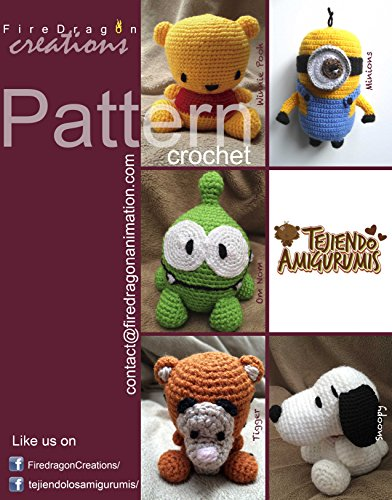 Magic Hands Pattern Collection V.1: Pooh, Tigger, Om Nom, Minion and Snoopy