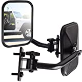 Marketworldcup-Side View Mirror for Jeep Wrangler Driver Passenger Quick Release Adjustable Arm