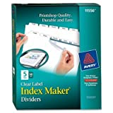 AVE11556 - Avery Index Maker Clear Label Punched Divider