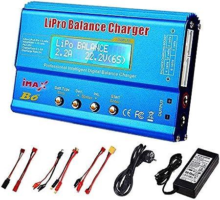 HTRC iMAX B6 80W 6A Cargador de batería Lipo NiMh Li-Ion Ni-CD Cargador de Cargador de balanza RC Digital Enchufe de la UE