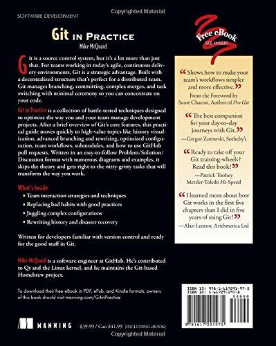 Git in Practice: Amazon co uk: Mike McQuaid: 9781617291975: Books