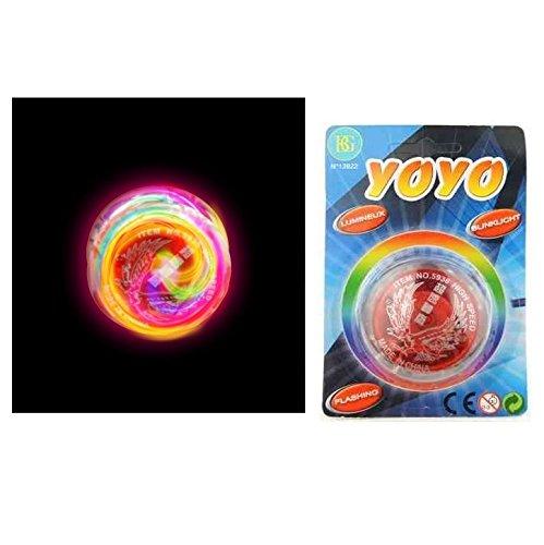 Yoyo lumineux + 2 piles bouton - Jeux jouet enfant - Aléatoire - 922