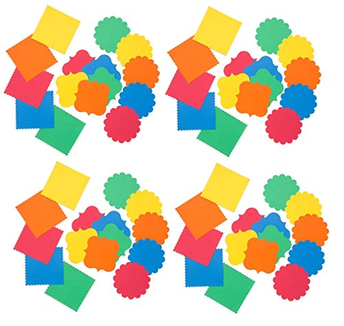 Card Stock Value Pack Die Cut Shapes in Yellow, Green, Orange, Red, Blue - 60 Count (5.45 Inches Each)