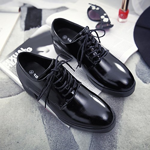 Los Gruesos Negro La Pequeños Caída Solo De Zapatillas Zapatos GAOLIM Gruesa Una Femenino Zapatos Pintura Cabeza Con Y Zapatos Redonda Mujer SXq4nRxU