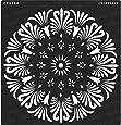 Amazon com: CrafTreat Stencil - Peacock Dot Mandala 12
