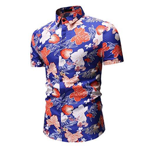 - Sunyastor Men's Shirt, Fashion Men's Printed Dress Shirt Summer Casual Short Sleeve Regular Fit T-Shirt Top Blouse