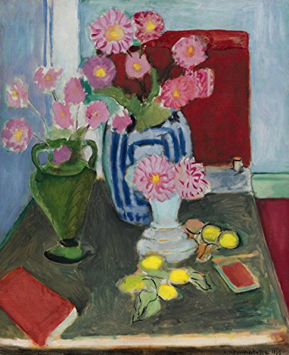 Henri Matisse Art Canvas - Henri Matisse - Still Life with Three Vases, Size 24x30 inch, Canvas art print wall décor