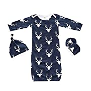Summer Fall 3pcs Baby Sleepsack Wearable Blanket Deer Blue Gown Sleeping Bag