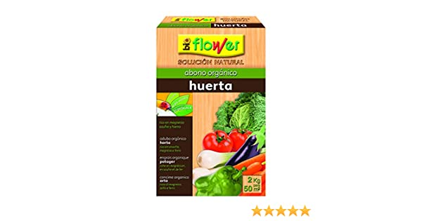 Flower 70557 70557-Abono orgánico Huerta, 2 kg, No Aplica, 20.4x7 ...