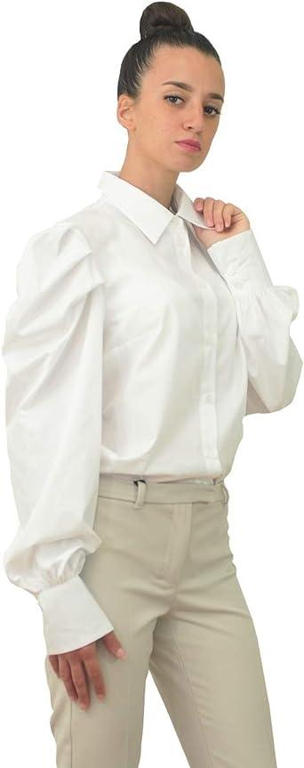 DONDUP - Camisa de mujer Dc084 Pf0014 Xxx 000 blanca Bianco ...
