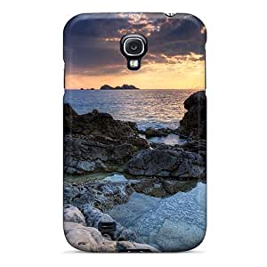 For Lynutchins Galaxy Protective Case, High Quality For Galaxy S4 Awesome Rocky Shore Hdr Skin Case Cover