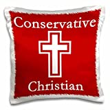 3D Rose pc_150120_1 Conservative Christian Red Pillow Case, 16'' x 16''