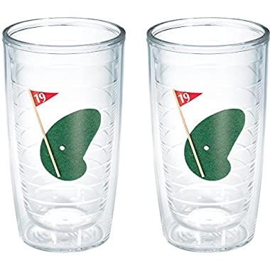 Tervis 19th Hole Tumbler (Set of 2), 16 oz, Clear