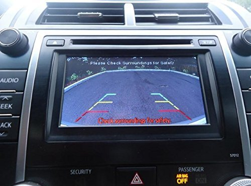 Toyota Camry SE and XLE Integrated Backup Camera Kit (2012-2014) for Factory Radio (Color: Black) - Backup Camera Interface