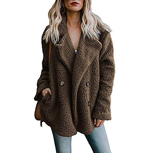 Nylon Tweed Coat - Realdo Clearance Sale Women's Casual Solid Cardigan Warm Parka Ladies Open Front Coat with Pocket