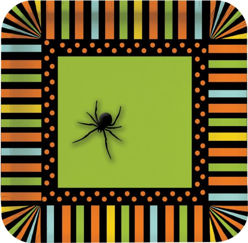 8-Count Square Paper Dessert Plates, Halloween Spooky Spiders for $<!--$6.99-->