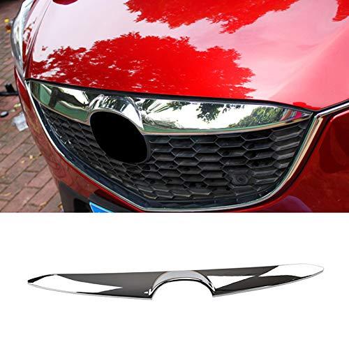 AUTOXBERT Fits for Mazda CX-5 CX5 KE 2012 2013 2014 Chrome Front Hood Bonnet Lip Grille Grill Cover Trim Lid Bar Molding Decoration Car - Trim Grille Bar