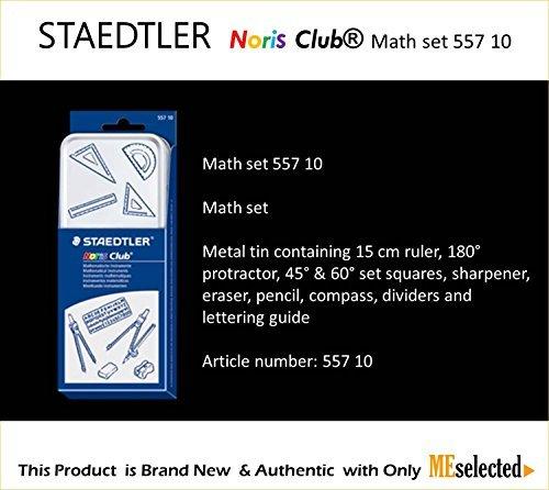 Staedtler noris club MATH SET 557 10 Geometry Compass set...