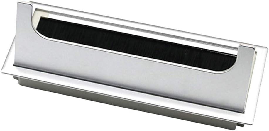 8cm kesoto Couvercle De Trou De Rangement Ordonn/é De Passe-c/âble De Bureau Dordinateur En Aluminium 28