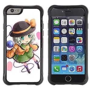 Suave TPU GEL Carcasa Funda Silicona Blando Estuche Caso de protección (para) Apple Iphone 6 PLUS 5.5 / CECELL Phone case / / Cute Hat Girl /
