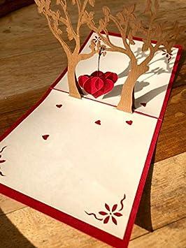 Carte Coeur Amour Remerciement Invitation Mariage Amazon Fr
