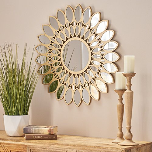 Christopher Knight Home  Antares Glam Flower Wall Mirror Finish