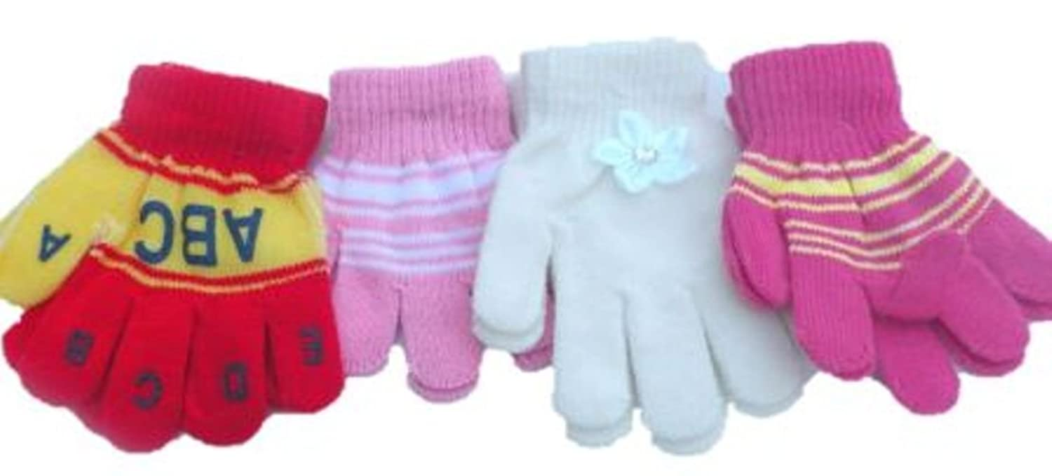 discount Four Pairs Magic Gloves for Infants Ages 0-24 Months Monogram on sale