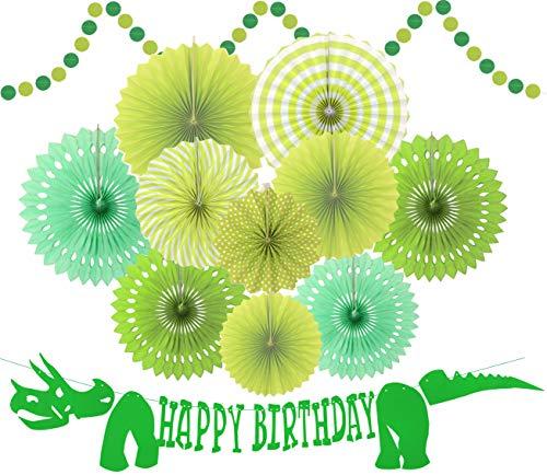 MEANT2TOBE Green Dinosaur Happy Birthday Banner - Dinosaur