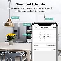 Enchufe Inteligente WiFi Zoozee Mini Smart Plug Funciona con Amazon Alexa, Echo, Google Home No se requiere Hub Control de Aplicación en Cualquier ...