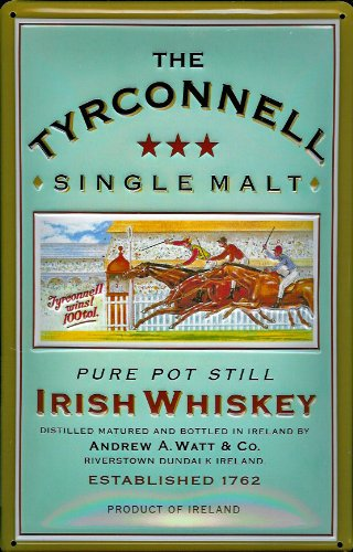 The Tyrconnell Irish Whiskey Single Malt nostalgic 3D embossed & domed strong Metal Tin Sign 7.87