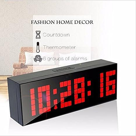 lambtown LED pared Digital Escritorio Reloj despertador Gran ...
