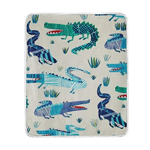 (KEEPDIY Croc Rock Twill Marine Blanket-Warm,Lightweight,Soft,Pet-Friendly,Throw for Home Bed,Sofa &Dorm 60 x 50 Inch)