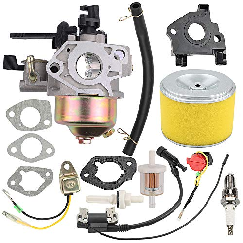 Butom GX270 9HP Carburetor with Air Filter Ignition Coil for Honda GX240 8.0HP Parts Replaces #16100-ZE2-W71 (Honda 3 Trash Pump)