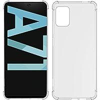 USTIYA Funda para Samsung Galaxy A71 Case Carcasa Bumper,Shock-Absorción TPU Transparente con Cuatro Esquinas…