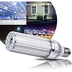 LIFU LED Corn Light Bulbs - E26 Standard Base with Radiator Fan 25W Daylight 2900 Lumens, 6500K with 105pcs 5730 LEDs and Super Bright for Street Lamp Garage Factory Warehouse Garden