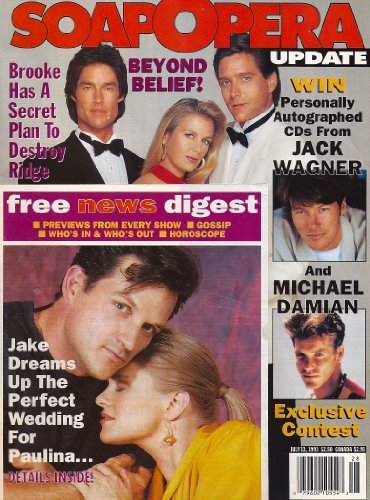 Bold and the Beautiful, Michael Damian, Jack Wagner, Another World, One Life to Live 25th Anniversary - July 13, 1993 Soap Opera Update Magazine