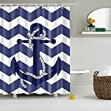 LIYAXUN Blue Anchor Waves Originality Personalized Polyester Digital - Best Reviews Guide