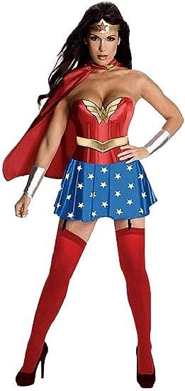 EVRYLON Disfraz de Mujer Maravilla - Chica Vestida de Carnaval ...