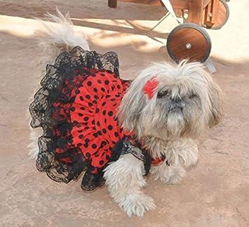 Folk Artesanía Vestido para Mascotas Flamenca o andaluza Lunares. Ideal para tu Perro. Fabricado en España (S): Amazon.es: Juguetes y juegos