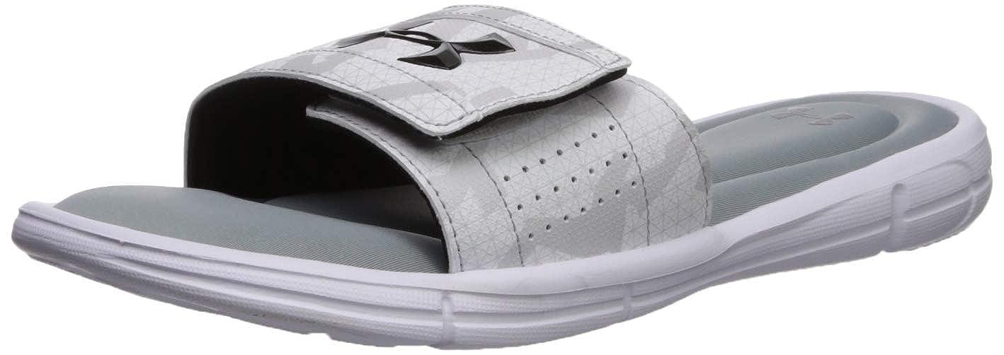 d13fdf4710b Under Armour Men s Ignite Bustle V Slide Sandal White Steel  Amazon.in   Shoes   Handbags