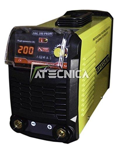 Schweißgerät mit Inverter atecnica Spider 200Profi amp190Schweißen mit Elektrode in Dauerstrom