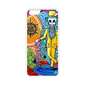 Canting_Good Tie Dye Colorful Mr Skull Custom Case Cover Shell for iPhone 5C TPU (Laser Technology) by lolosakes by lolosakes